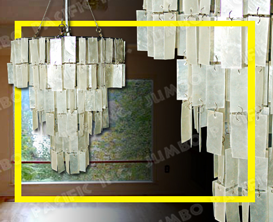 Rectangle Capiz Chips desing to chandelier