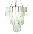 rectangle white capiz chandelier