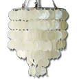 natural white capiz chandelier
