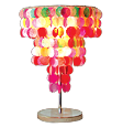 colored capiz 3 layer lamp shade