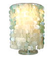 color blue and white capiz lamp shade