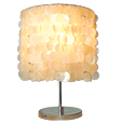 natural white capiz lamps