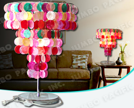 Colored Capiz Chips for Capiz Table lamp shade